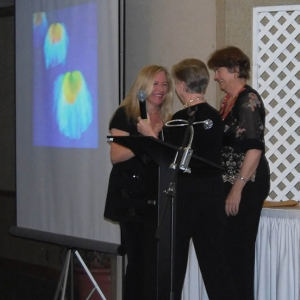 Receiving my Award from Kay Schmidt, CPSA President, and Paula Parks, Exhibition Director