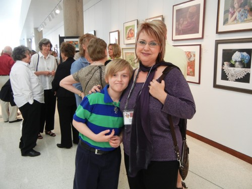 Christi Tompkins with her Son, Nathan