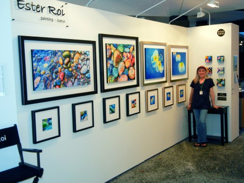 My exhibit space at the Laguna Beach Festival of Arts
